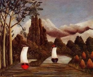 Henri Julien Rousseau - The Banks Of The Oise