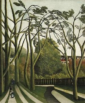 Henri Julien Rousseau - The Banks Of The Biere Near Bicere