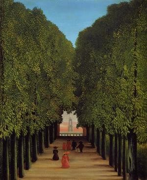 Henri Julien Rousseau - The Avenue In The Park At Saint Cloud