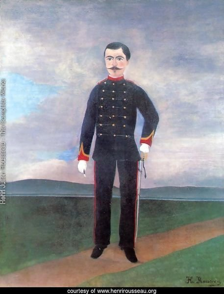 Portrait Of Frumence Biche In Uniform