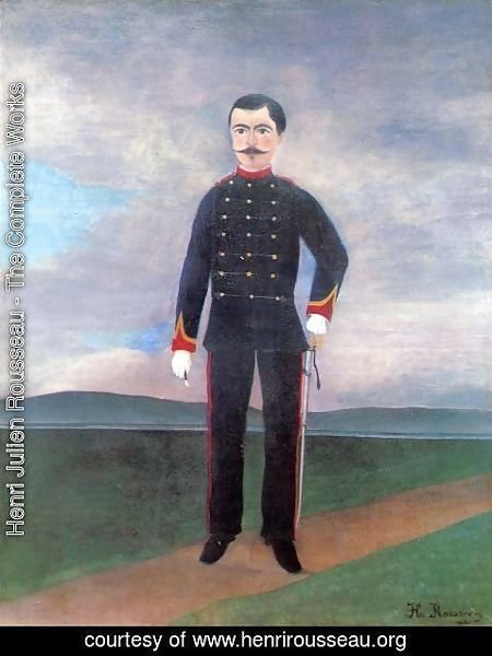 Henri Julien Rousseau - Portrait Of Frumence Biche In Uniform