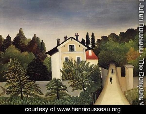 Henri Julien Rousseau - Landscape On The Banks Of The Oise Area Of Chaponval