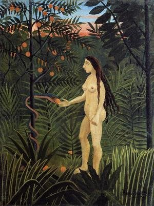 Henri Julien Rousseau - Eve And The Serpent