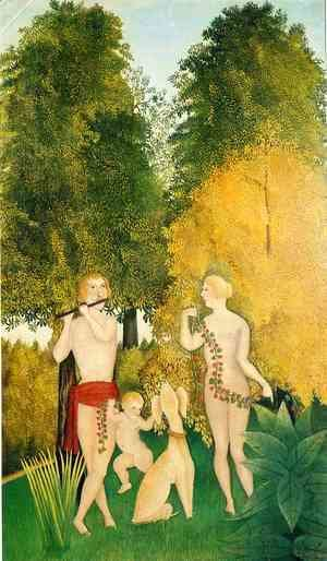 Henri Julien Rousseau - Happy Quartet